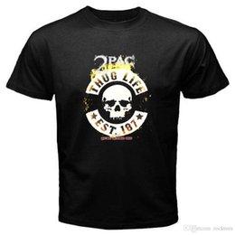 Nuevo 2Pac Shakur Thug Life Rap Hip Hop Music Camiseta negra para hombres Talla S-3XL Camiseta Pre-Cotton para hombre en venta