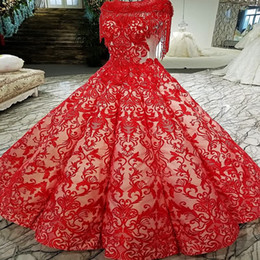 842495ddc 2019 Red Color Lace Prom Dresses Floor Length Tassel Short Sleeves Original  Design Evening Dress New Arrival From China Online Store