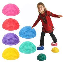 Educational pc gamEs kids online shopping - 16CM Diameter Kids Inflatable Plum Pile Educational Toy Sports Parent child Interactive Games Semicircle Massage Ball Set