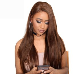 Human Hair Lace Wigs Queen UK - Charming Queen Straight Lace Front Human Hair Wigs For Black Women Pre Plucked Remy Hair Wigs With Baby Hair Bleached Knots