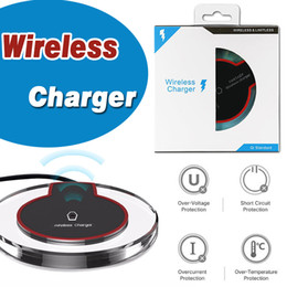 $enCountryForm.capitalKeyWord Canada - Qi Wireless Charger Pad Power Fast Charging Mini Ultra-Slim Wireless Charger Stand Pad For iPhone X 8 Plus Samsung S8 Note 8 Retail Package