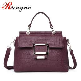 $enCountryForm.capitalKeyWord Canada - RANYUE High Quality PU Leather Women's Handbags Shoulder Bag Ladies Hand Bags Stone Casual Women Bag Large Capacity Handbag Sac
