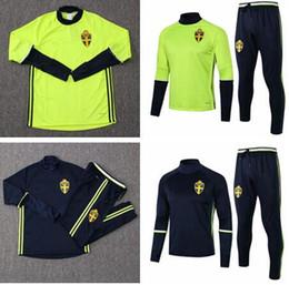 $enCountryForm.capitalKeyWord NZ - Best quality Sweden tracksuit Soccer Jacket +Pants Soccer Jogging Training suit Survetement Sweden soccer uniforms set