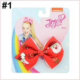 """$enCountryForm.capitalKeyWord NZ - free shipping 15pcs 3.5"""" Clip Cute Solid Print Unicorn Christmas Bows With Clips For Girls Hair Accessories Hairpins Barrette with"""