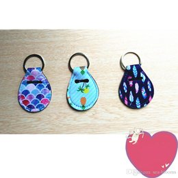 Key ring holder covers online shopping - Hot Sale Neoprene Chapstick Holder Keychain Mini Coin Wrap Key Rings Keyfob Neoprene Coin Cover Random Color Send H525Q