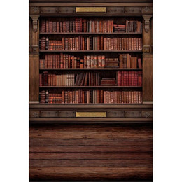 book backdrop NZ - Vintage Wooden Bookshelf Photography Backdrops Digital Printed School Library Books Retro Style Indoor Photo Studio Backgrounds Wood Floor