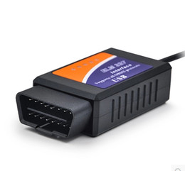 $enCountryForm.capitalKeyWord Australia - ELM327 USB Plastic Calbe ELM 327 Plastic OBD2 Scanner ELM 327 OBD II Diagnostic Tool 50pcs Lot