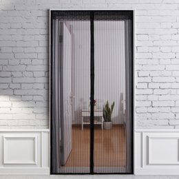 Bug Screens NZ - 1Pc Door Screen Mosquito Curtain Mesh Door Mosquito Net on Magnets Hand-Free Anti Bug Protect from Insects 1*2.1m Drop Shipping