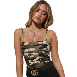 e9ab8ee2b7a Women Camouflage Printed Halter Top Women Slim Backless Tanks Women Casual  Polyester Crop Top Female S-L