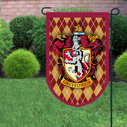 cosplay flags 2018 - 45*75cm and 60*95cm Harry Potter Banners Gryffindor Slytherin Hufflerpuff Ravenclaw College Flag Cosplay Flags Home Gard