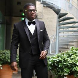 $enCountryForm.capitalKeyWord Canada - New Stylish Design Two Button Black Groom Tuxedos Peak Lapel Groomsmen Best Man Suits Mens Wedding Suits (Jacket+Pants+Vest+Tie) 572
