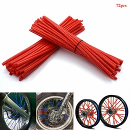 motorcycle spokes UK - For benelli Motocross Dirt Bike Enduro Off Road Rim Wheel spoke skins Motorcycle 72Pcs Rim Spoke Wrap Kit Skin Cover