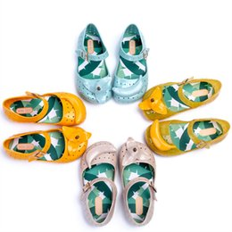 Wholesale Mini jelly shoes princess banana children s beach shoes jelly hollow girl sandals girls shoes DHL