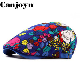 Canjoyn Spring Autumn Cotton Lotus Berets hat boina Fashion Design Flower  Casquette Dad Hat Wholesale 6e5c2bbce4a2