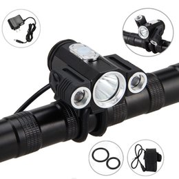Xml T6 3x Headlamp Australia - 10000LM 3x XML T6 LED Bycicle Light Bike Head Lamp Torch Rechargeable Headlight Headlamp Accessories for Bike Bicycle Outdoor Y1892809