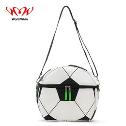 35ec18b3f003 WorthWhile Camping Picnic Bag Soccer Football Shape Thermal Basket Lunch  Cooler Box Outdoor Hiking Kid Crossbody Fresh Storage