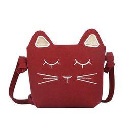 Korean mini Kids handbags online shopping - LI SHA SHOP Children Bags Handbags Girls Cat Shoulder Bag Small Mini Pink Blue Black Kids Candy Color Girl Gift