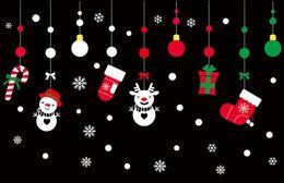 Venta al por mayor de Etiquetas engomadas de la pared de las etiquetas engomadas de la Navidad, etiquetas engomadas desprendibles del PVC Etiquetas engomadas de la pared de la Feliz Navidad, papel pintado decorativo 50X70cm