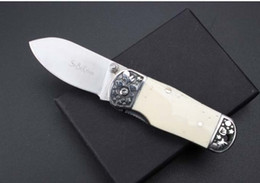 bone knife handles 2020 - Bone handle Camping Hunting Survival Knife Outdoor high hardness broken window cutter folding gift knife wholesale cheap