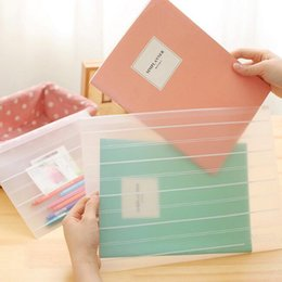 transparent plastic school bag NZ - A4 A5 transparent document bags practical plastic file folders school file paper storage holders office supplies fashion stationery