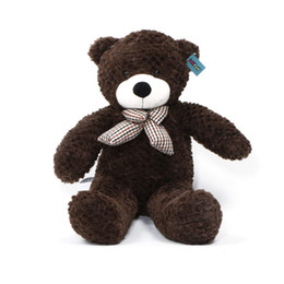 """Valentine Gifts Teddy NZ - Giant Teddy Bear 39"""" 100cm Cocoa Brown Huge Stuffed Toy Valentines Gift"""