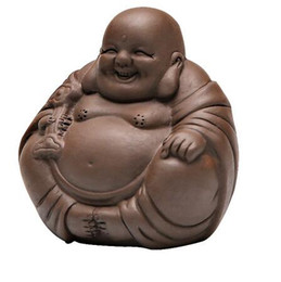 Wholesale clay buddha resale online - TANGPIN purple clay tea pets buddha monk zisha tea accessories