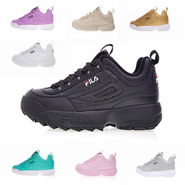 Discount camp wear - FILA II 2 Women Men FILE Shoes Special Section Sports Sneaker Increased Shoes Fashion Casual Wear Leather Running Shoes