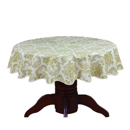 $enCountryForm.capitalKeyWord UK - Pastoral Round Table Cloth PVC Plastic Table Cover Flowers Printed tablecloth Waterproof Home Party Wedding Decoration