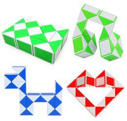United Color Random Newest 48 Blocks Magic Snake Ruler Cubes Spinner Puzzle Standard Version Children Education Imagination Game Toys Puzzles & Games