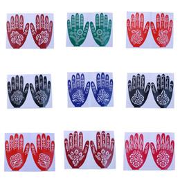 Diy Body Art Stencils Australia - Pro DIY India Henna Temporary Tattoo Stencils For Women Hand Leg Arm Feet Body Art Decal 15*21cm T0614