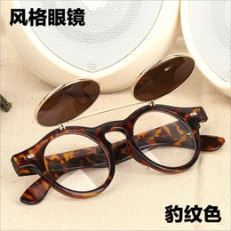 f4e64dc4e06 Flip Up Sunglasses NZ - sunglasses women 2018 Steampunk Goth Goggles Glasses  Retro Flip Up Round