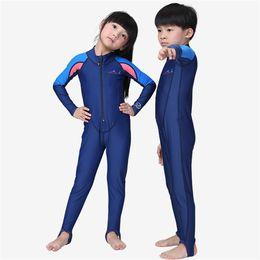 $enCountryForm.capitalKeyWord Australia - Children Diving Suit Long-sleeved One-piece Warm Swimsuit Boys Girls Outdoor UV-proof Sunscreen Surfing WetSuit Jumpsuit Kid's Swimwear