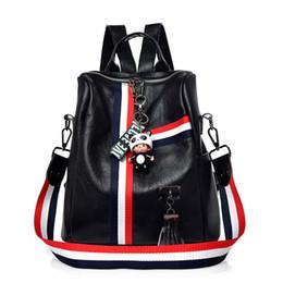 $enCountryForm.capitalKeyWord Canada - Cute Keychain Backpacks For Girls Fashion Tassel Women Backpack Female Colorful Daypack SchoolBag Leather Shoulder Bags