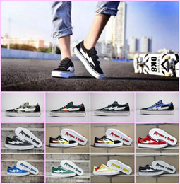 83ff10cc68322a Hot Sales 2018 Revenge x Storm Sneakers Pop up Store Top Quality Old SKool  Off Fashion Grid Mens Skateboard Vulcanized Ins Canvas Shoes