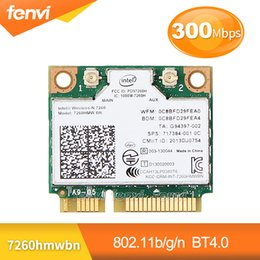 $enCountryForm.capitalKeyWord Australia - Wireless Network Wlan Adapter For Intel 7260 7260HMW BN 802.11bgn 300Mbps Wifi+Bluetooth 4.0 Half Mini PCI-E card Fit Dell Asus