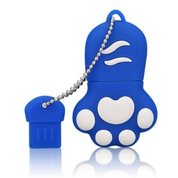 Cartoon usb 1gb flash drive online shopping - Bulk Cartoon Cat Claw MB USB Flash Drives Bear Claw Thumb Pen Drives Storage for PC Laptop Tablet USB Memory Stick Colorful