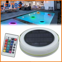 Großhandel RGB LED Unterwasserlicht Solar Power Pond Schwimmender Swimmingpool im Freien Wasserdichtes dekoratives LED-Licht mit Fernbedienung