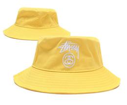 Blue Bowler hats online shopping - New Fashion bucket cap Foldable Fishing Caps Stu Bucket cap Beach Sun Visor Sale Folding Man Bowler Cap For Mens Womens New quality