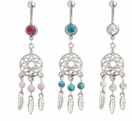 Chinese  D0432 ( 3 colors ) mix colors styl belly ring style dream catcher style Rings Body Piercing Jewelry Dangle Accessories Fashion Charm 10PCS manufacturers