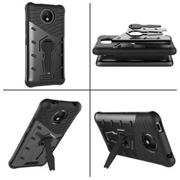 moto phone covers NZ - Sniper Hybrid Robot Armor ShockProof 360 Kickstand Back Soft mobile cell phone Case Cover for motorola Moto C plus
