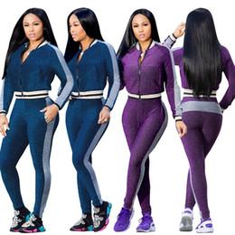 $enCountryForm.capitalKeyWord Canada - 2018 Two Piece Set Women Casual tracksuits Crop Top Pencil Pants Leggings Set Lady Bodycon Slim Suit Winter Vestidos High Street Women Sets