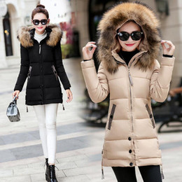 Wholesale Fashion Women winter hooded coat female outerwear parka ladies warm long jacket Slim Coats For Women