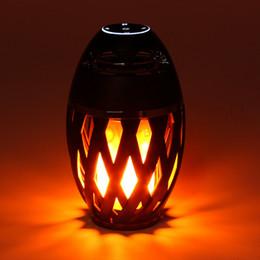 Портативная светодиодная лампа с пламенем Динамик Стерео Bluetooth BT4.2 Динамик Атмосфера Мягкий свет для iPhone Android Мобильный телефон pc Mp3