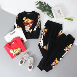 Branded Baby Kids Clothes Australia - High Quality Baby Boy girl set Clothes Brand 2018 spring O-Neck full Sleeve kids Super baby nipple Child boys clothing set 3 colors