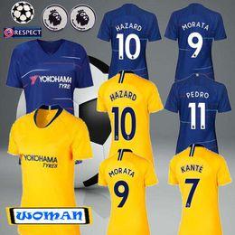 4e2cc2410 18 19 HAZARD Womens Jersey 2018 2019 GIROUD BATSHUAYI Womens Soccer Jerseys  MORATA Woman Football Shirt WILLIAN PEDRO Ladies Jersey