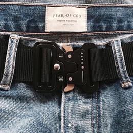 Wholesale FOG Fear Of God Four Types ALYX Belt Roller Coaster BELT Metal Button Unisex Hip Hop Swag Brand Men Women Belt HFLSYD002