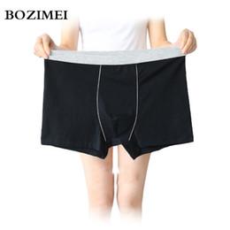 $enCountryForm.capitalKeyWord NZ - BOZIMEI Large loose male cotton Underwears Flexible Boxers high waist panties breathable fat belts Big yards men's underwear