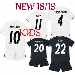 6be9366b5 2018 2019 Real Madrid Kids soccer jersey 18 19 Real Madrid set BENZEMA ISCO  BALE SERGIO RAMOS MORATA ASENSIO MODRIC football shirt