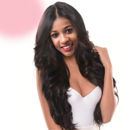 $enCountryForm.capitalKeyWord Australia - On sale fast free shipping unprocessed virgin remy human hair long natural color body wave full lace silk top wig for women