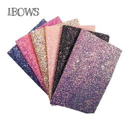 $enCountryForm.capitalKeyWord UK - 22CM*30CM Glitter Synthetic Leather Fabric Chunky Glitter Fabric Party Wedding Decoration DIY Hairbows Materials